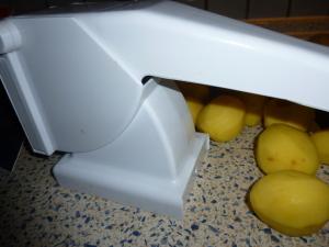 Kaputter Pommesschneidervergleich